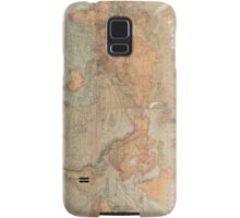 Vintage Map of The World (1870) Samsung Galaxy Case/Skin