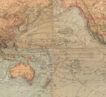 Vintage Map of The World (1870) Sticker