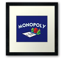 MONOPOLY - PARK PLACE ON FIRE Framed Print