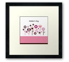 Pink flowers for Mother : Original designers edition Framed Print
