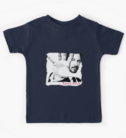Keanu Reeves (Black and White Attitude)  Kids Tee