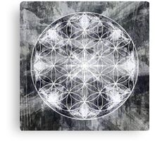 flower of life black grey Canvas Print