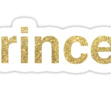 princess glitter Sticker