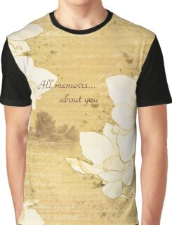 "Sketch  ""All memoirs... about you"" Graphic T-Shirt"