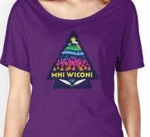 Mni Wiconi Shirt Women's Relaxed Fit T-Shirt