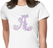 A letter monogram decorative typographic drawing Womens Fitted T-Shirt