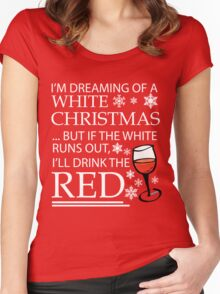 White Christmas Women's Fitted Scoop T-Shirt
