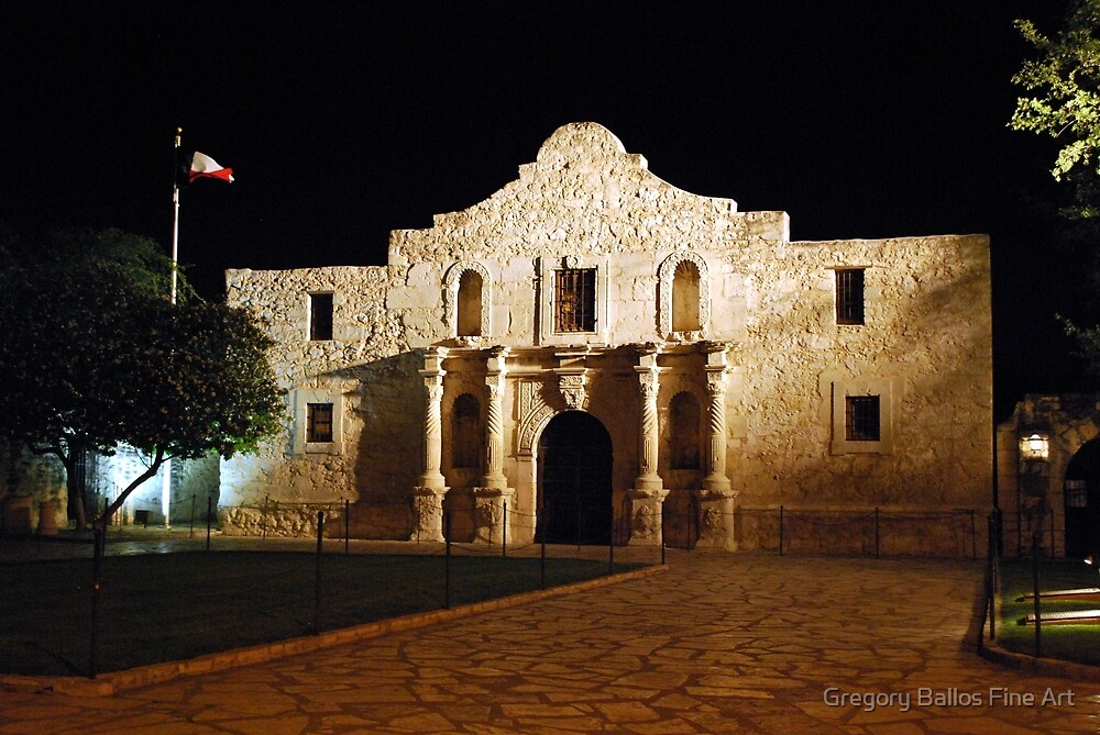 The Alamo at Night by Gregory Ballos