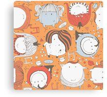 Orange monsters Canvas Print