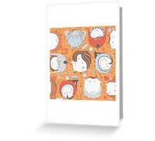 Orange monsters Greeting Card