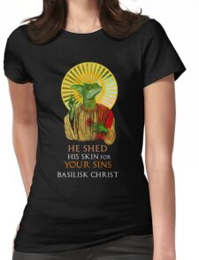 Basilisk Christ Womens Fitted T-Shirt
