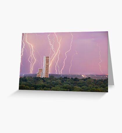 Electric Night Greeting Card