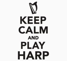 Keep calm and Play Harp One Piece - Short Sleeve