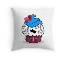 Cupcake - Funny Girly Zombie Cup Cake Throw Pillow