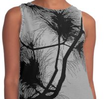 Desert flora, abstract pattern, floral design, black and gray Contrast Tank