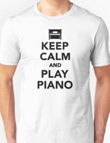 Keep calm and Play Piano T-Shirt
