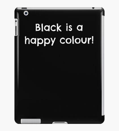 black happy colour iPad Case/Skin