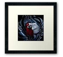 the dark side of my mind hurts Framed Print