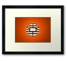DBZ - Goku's Shirt - King Kai Symbol - Vintage Framed Print