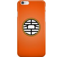 DBZ - Goku's Shirt - King Kai Symbol iPhone Case/Skin