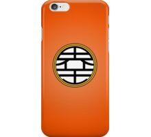 DBZ - Goku's Shirt - King Kai Symbol iPhone Case/Skin