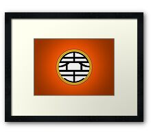 DBZ - Goku's Shirt - King Kai Symbol Framed Print