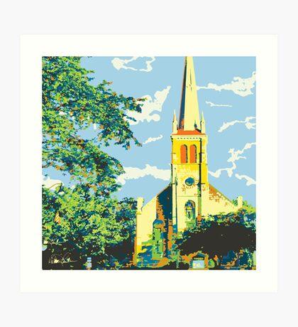 Historic St Francis Borgia Church - Cedarburg WI (bold) SQUARE Art Print