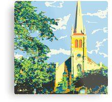 Historic St Francis Borgia Church - Cedarburg WI (bold) SQUARE Metal Print
