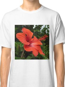 Red Hisbiscus Classic T-Shirt