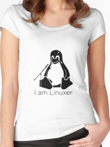 I am linuxer Women's Fitted Scoop T-Shirt