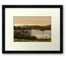 Lonely Fisher Framed Print