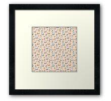Cute Giraffes Framed Print