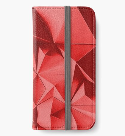 Red fractals pattern, geometric theme iPhone Wallet/Case/Skin