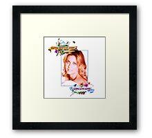 Olivia Newton-John - 70's -Long Live Love Framed Print