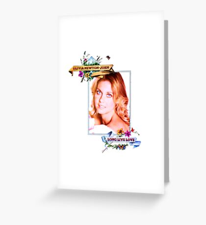 Olivia Newton-John - 70's -Long Live Love Greeting Card