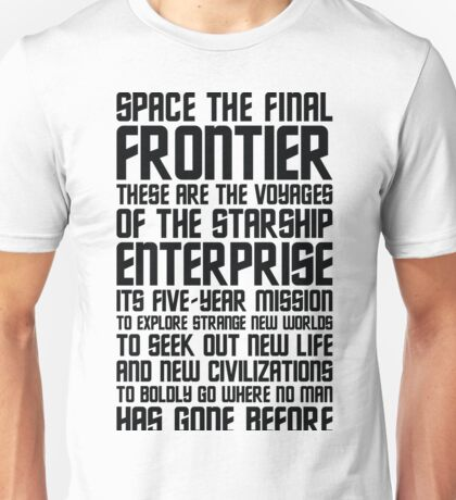 Star Trek Quote Unisex T-Shirt