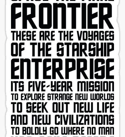 Star Trek Quote Sticker