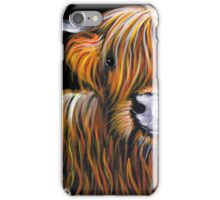 HIGHLAND COW ' JOCK ' By Shirley MacArthur iPhone Case/Skin