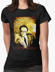 Raymond Chandler Detective Noir T-Shirt Womens Fitted T-Shirt