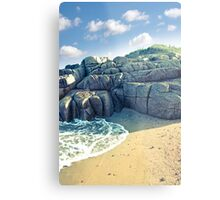 rock formation on a coastal beach in county Donegal Metal Print