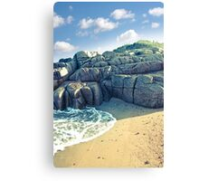 rock formation on a coastal beach in county Donegal Canvas Print
