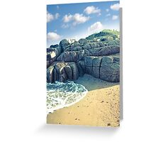 rock formation on a coastal beach in county Donegal Greeting Card