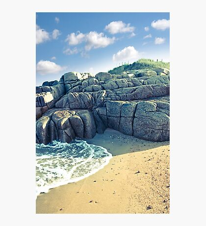rock formation on a coastal beach in county Donegal Photographic Print