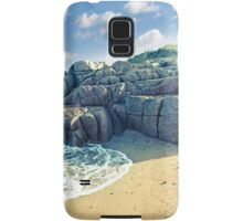 rock formation on a coastal beach in county Donegal Samsung Galaxy Case/Skin