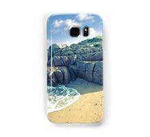 rock formation on a coastal beach in county Donegal Samsung Galaxy Case/Skin