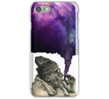 Old man smoking the universe iPhone Case/Skin