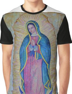 Our Lady of Guadalupe painting, Vergin de Guadalupe picture Virgin Mary print Black Madonna Mexico Graphic T-Shirt