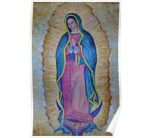 Our Lady of Guadalupe painting, Virgin of Guadalupe picture Virgin Mary print Black Madonna Mexico Poster
