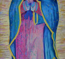Our Lady of Guadalupe painting, Virgin of Guadalupe picture Virgin Mary print Black Madonna Mexico Sticker