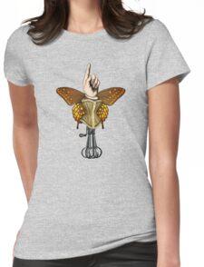 Butterhand Portrait Womens Fitted T-Shirt